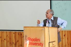 Arun Shourie at Shoolini University
