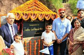Yuvraj inaugrates Cricket Stadium at Shoolini University