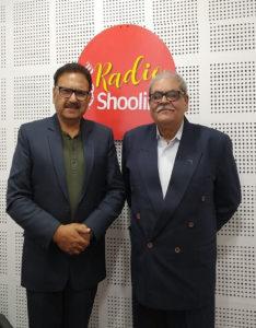Artist Sanjay Singh at Shoolini University with Mr Vipin Pubby in Radio Shoolini