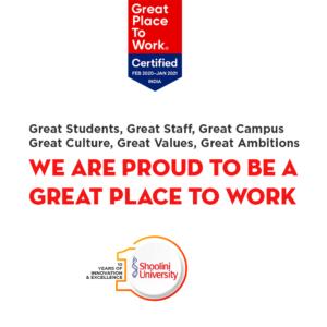 great place to work shoolini university