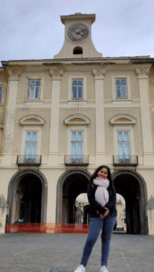 Sakshi Rather, M.Tech, Food Technology student from Shoolini University during a student exchange programme in Italy.