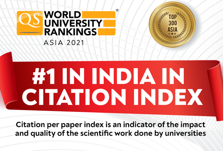 Shoolini is #1 in India for Citation Index (QS Ranking)