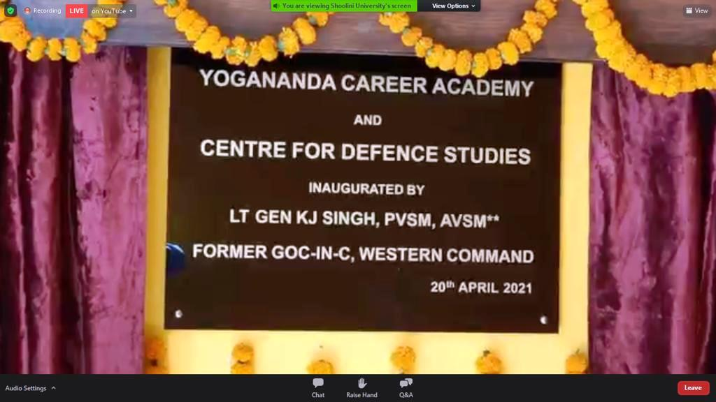 Yogananda Career Academy and Centre for Defence Studies launched