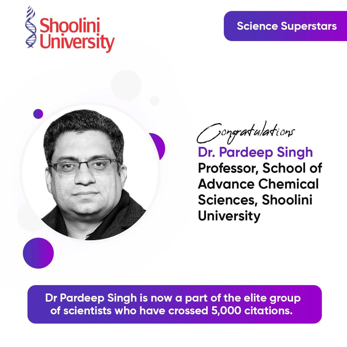 Dr Pardeep Singh crosses 5000 citations